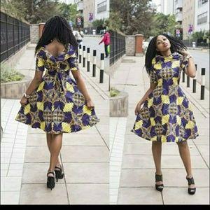 African Ankara short Dress -2 available